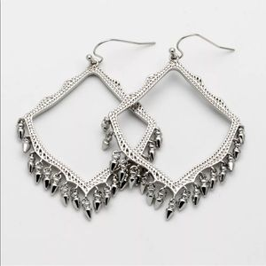 Kendra Scott Lacy Dangle Charm Earrings in Silver
